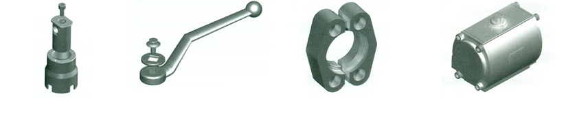 Ball Valve Accessories Locking Nut, Handles,  Flanges, Actuators